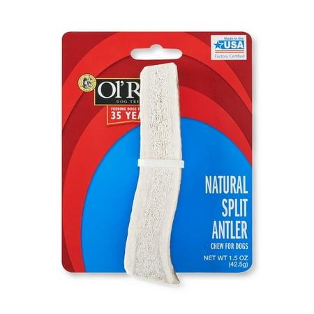 Ol' Roy Natural Split Antler Chew for Dogs, 1.5 oz - Dog Reindeer Antlers
