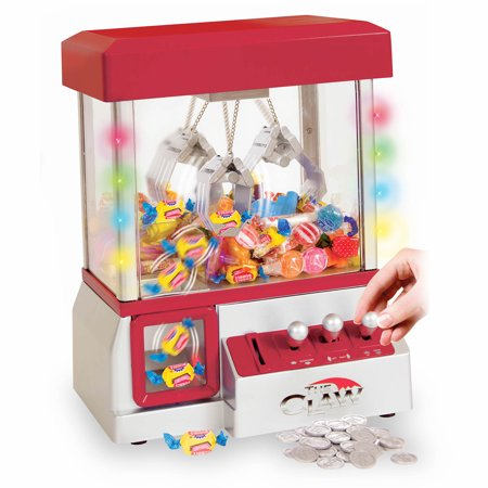 Electronic Claw Toy Grabber Machine With LED Lights And Toys (Quarter Machine Toys)