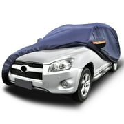 """YITAMOTOR Universal Fit Waterproof Car Cover Outdoor Indoor - Fits SUVs up to 206""""L,Dark Blue"""