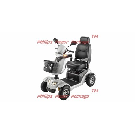 Merits Health Products - Silverado - 4-Wheel Full Suspension Electric Scooter - 18""