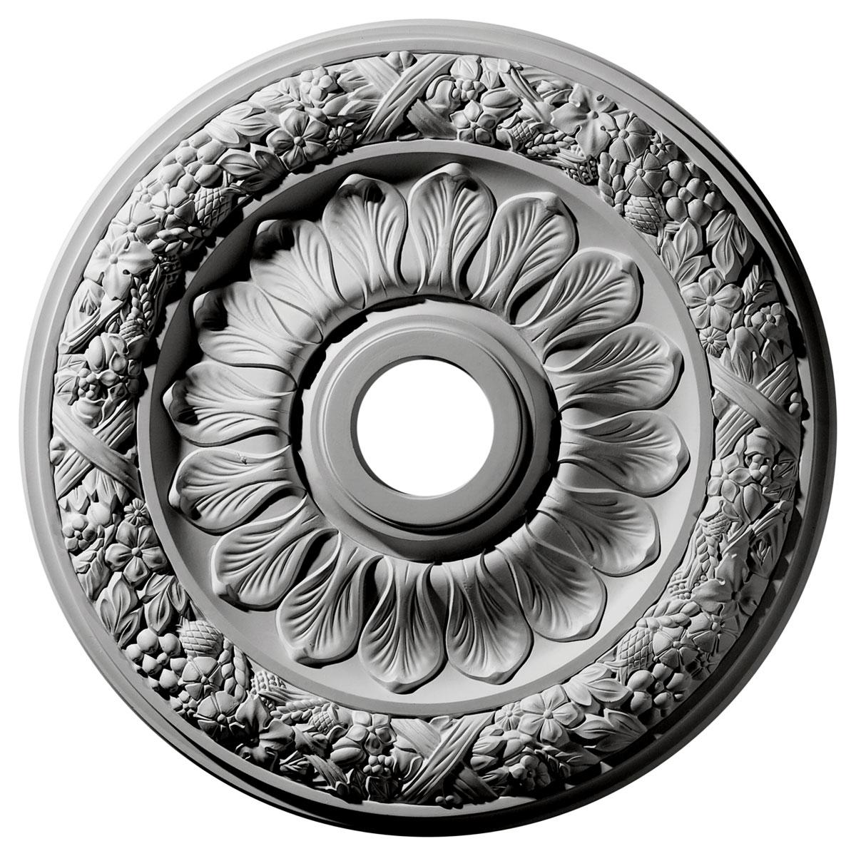 """24""""OD x 4""""ID x 1 1/2""""P Swindon Ceiling Medallion (Fits Canopies up to 6 1/8"""")"""