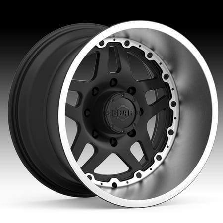 Gear Alloy 744BB Drivetrain Black / Brushed 20x9 8x6.5 18mm (Drivetrain Gear)