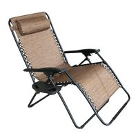 Woodard CM 227445 Verona Steel Zero Gravity Chair - Brown, Extra Large - 43.7 x 30.7 x 35.43 in.