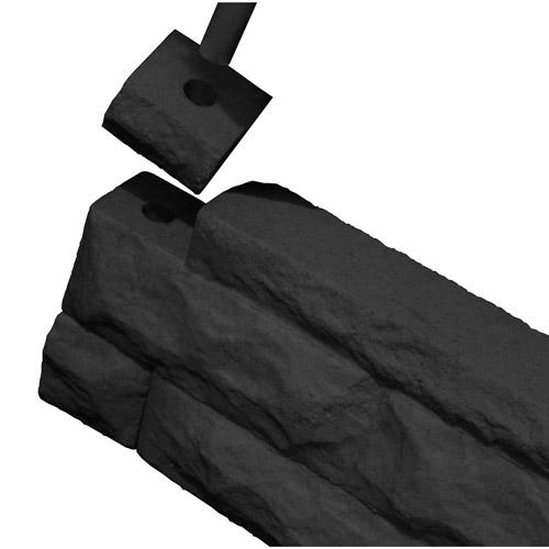 Image of Garden Wizard Border Finish Kit, Dark Granite