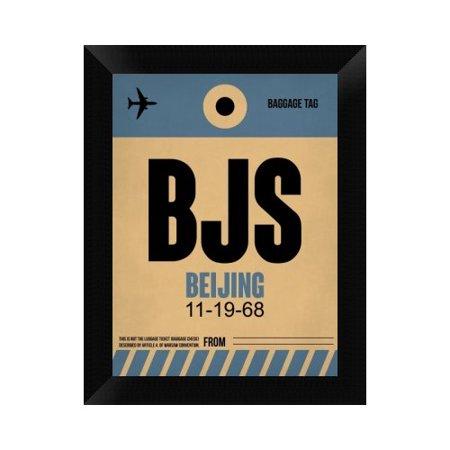 Naxart Bjs Beijing Luggage Tag 2 Framed Graphic Art Print On Canvas