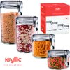 Canisters Sets For The Kitchen Food Storage Containers Pantry Cereal Container Food Storage Plastic Containers With Lids Kitchen Cabinet Organizer