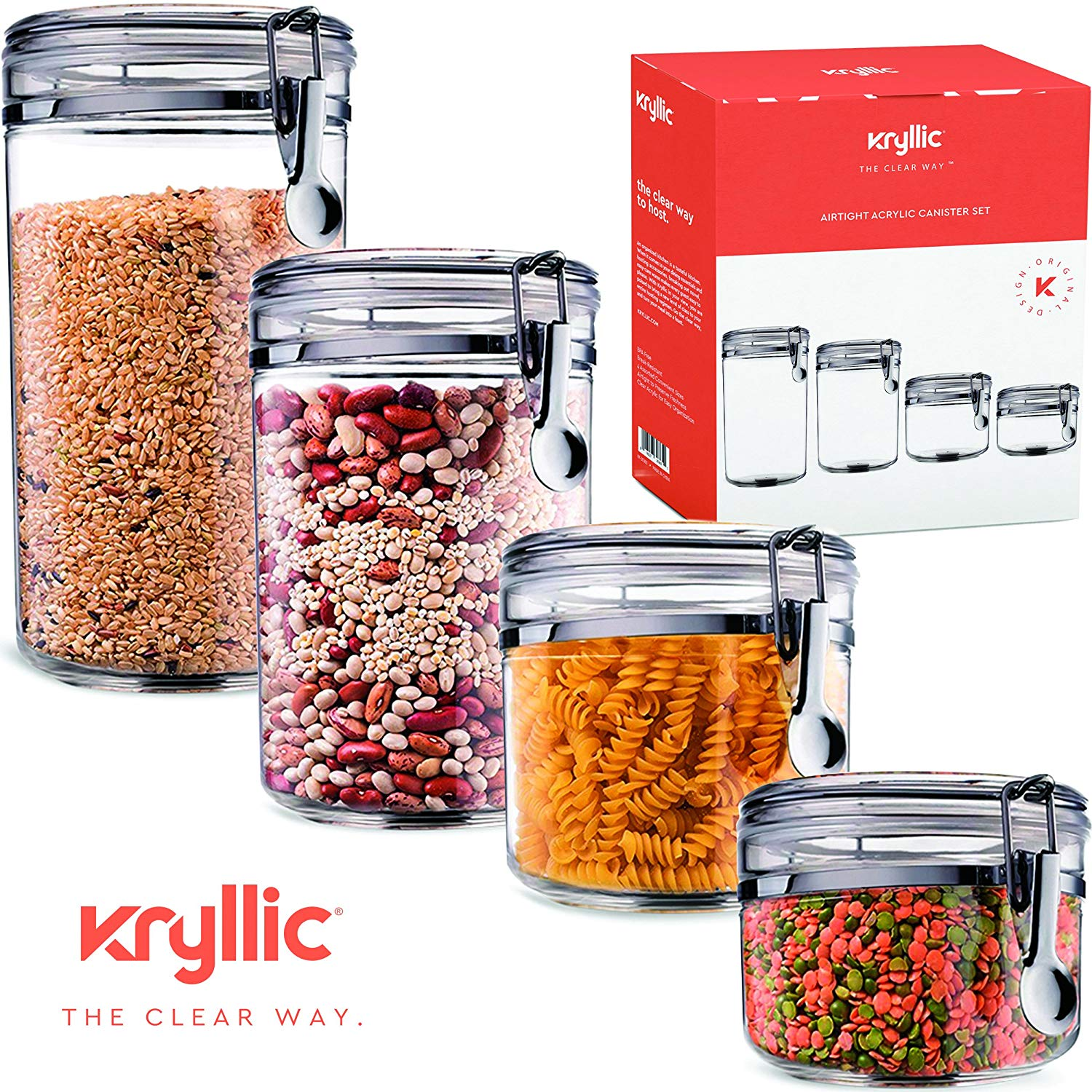 Superieur Food Storage Containers Canister Set   Cereal Container Air Tight Canisters  With Lids For The Dry