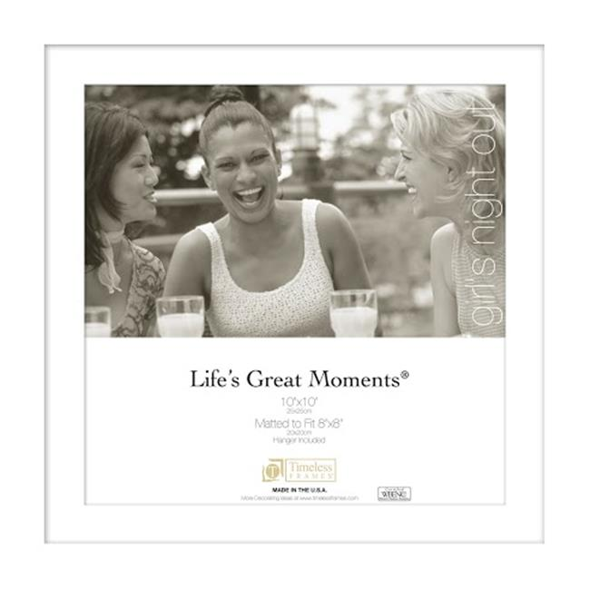 Timeless Frames 78356 Lifes Great Moments White Wall Frame, 10 x 10 in.