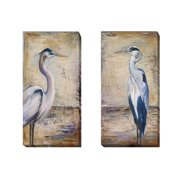 Artistic Home Gallery 'Blue Heron I and II' by Patricia Pinto 2 Piece Painting Print on Wrapped Canvas Set
