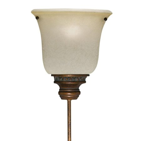 Aztec Lighting Corner Pin-up Plug-in Golden Bronze Lamp