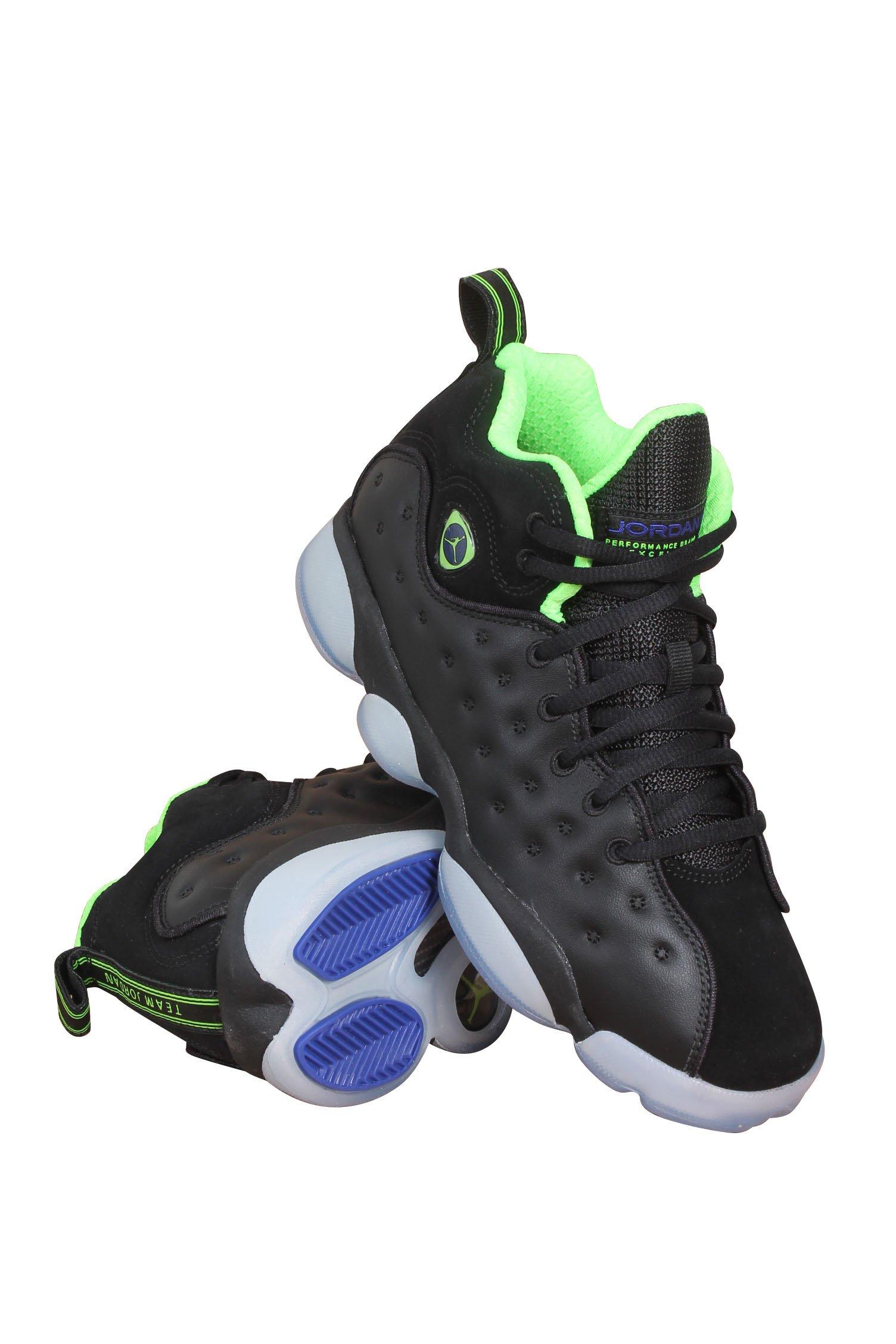 sports shoes 7c2dc c918c ... discount product image nike 861435 012 jordan jumpman team ii basketball  shoe black green 9ce12 7c39c