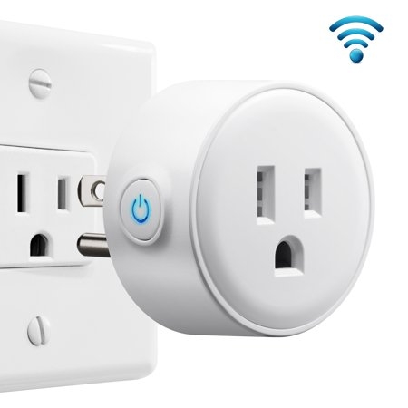 Wifi Smart Plug Mini, GMYLE Remote Control Timer Wireless Socket, No Hub Required, Works with Amazon Alexa, Echo Dot & Google Home