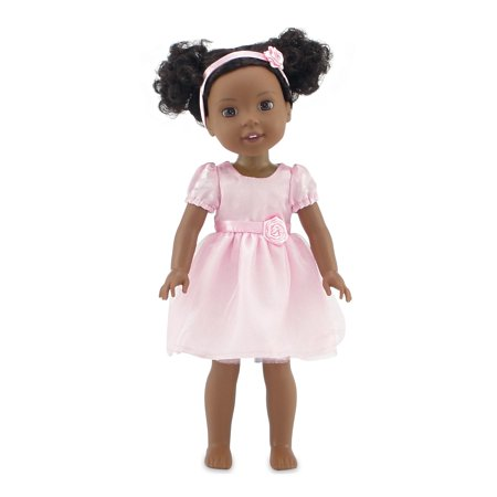 "Emily Rose 14 Inch Doll Clothes | Beautiful Pink Easter Doll Dress, Includes Headband | Fits 14"" American Girl Wellie Wishers and Glitter Girls Dolls 