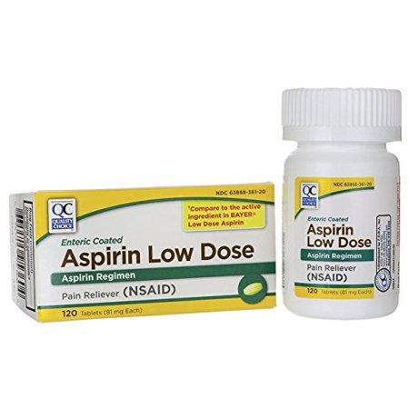 Guard 120 Tabs - Quality Choice Aspirin Low Dose 81 mg 120 Tabs