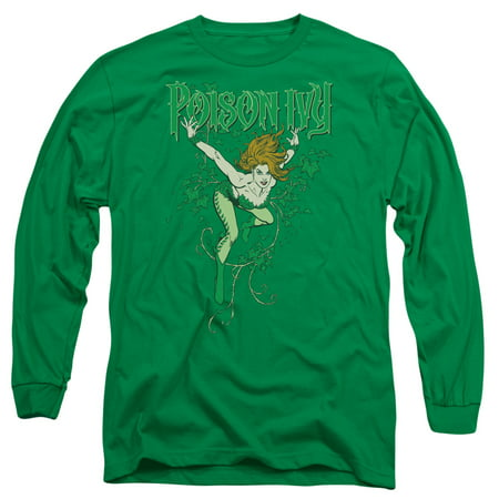 DC Comics Men's  Poison Ivy Long Sleeve Green