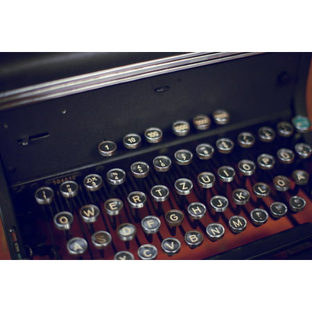 Canvas Print Mechanically Writer Keys Old Typewriter Letters Stretched  Canvas 10 x 14