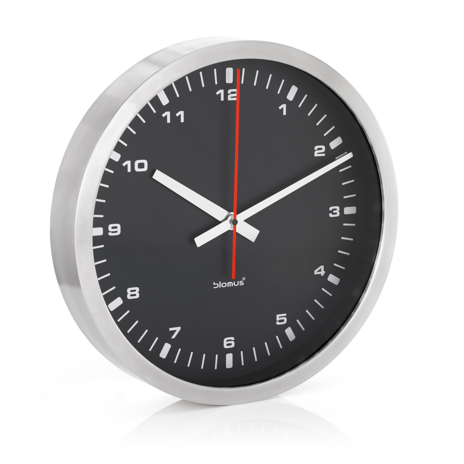 Era Stainless Steel & Black Wall Clock
