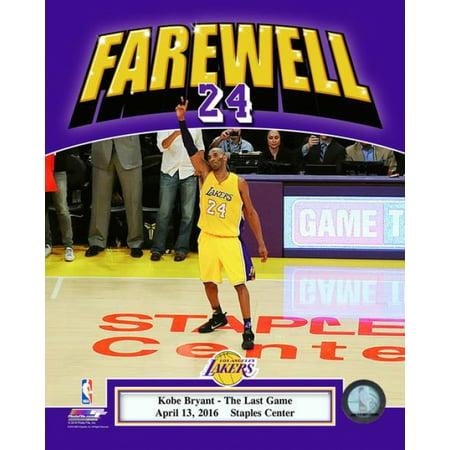 Kobe Bryant plays his final NBA game-Staples Center- April 13 2016 Photo Print (11 x