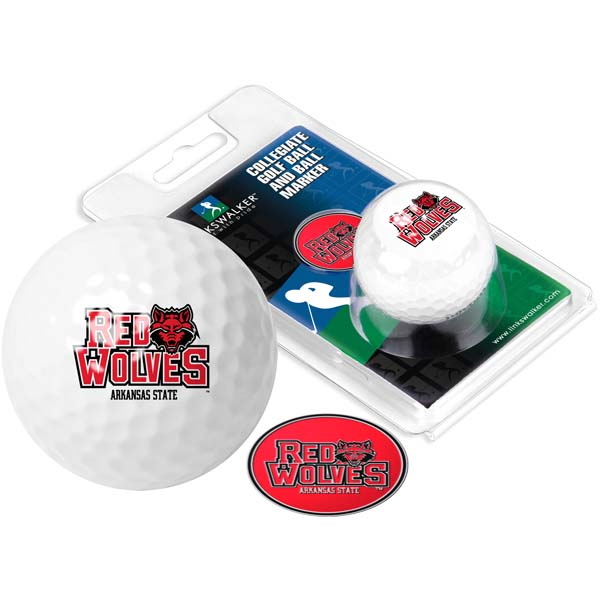 Arkansas State Golf Ball One Pack with Marker