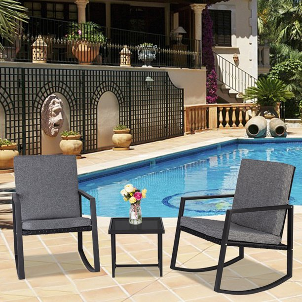 ubesgoo outdoor 3 pcs resin wicker rattan chairs and table garden patio furniture set