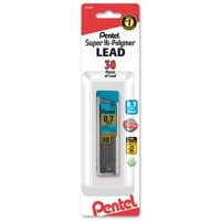 Pentel Super Hi-Polymer lead refill 0.7mm-fine, HB, 30 pcs/tube 1-Pk