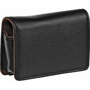 Olympus Black Leather - Casual Case Leather for Olympus Digital Camera Model #202215 - (Black) - New