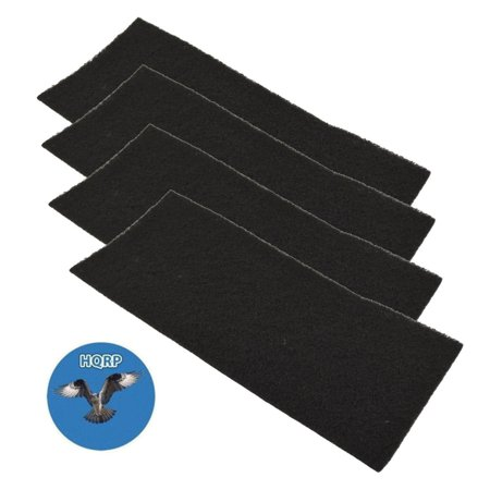 HQRP 4-pack Carbon Filter for Bionaire BAP1400, BAP1415, BAP1452, BAP1500, BAP1502, BAP1520, BAP1525, BAP1552, BAP1700, BAP2000, BAP8500 Air Purifiers + HQRP Coaster