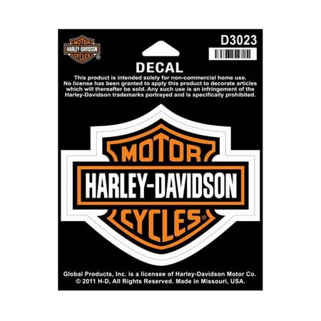 Harley-Davidson Bar & Shield Medium Decal, 3-15/16'' W x 3-1/8'' H D3023, Harley - Harley Davidson Birthday Decorations