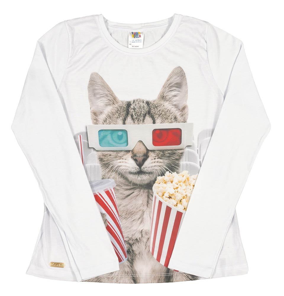 Pulla Bulla Tween Girl long sleeve graphic tee ages 10-16 years