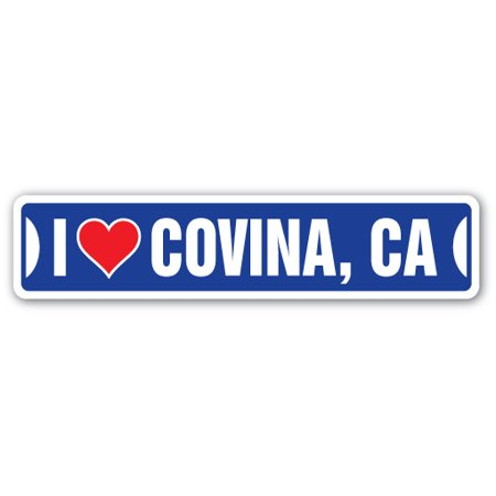 I LOVE COVINA, CALIFORNIA Street Sign ca city state us wall road décor gift for $<!---->
