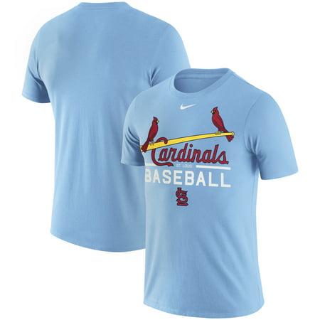 St. Louis Cardinals Nike Practice Performance T-Shirt - Light Blue - 3XL