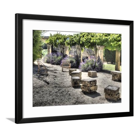 France, Provence. Outdoor Patio of the Saint-Hilaire Abbey Framed Print Wall Art By Julie Eggers