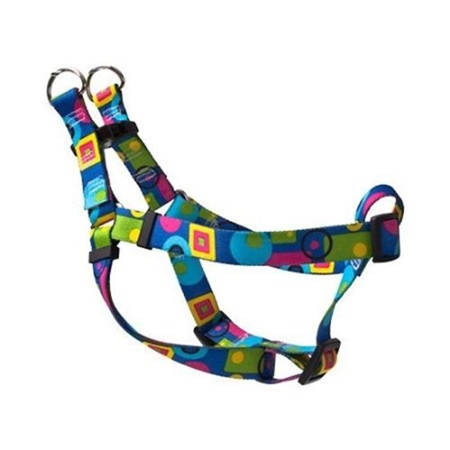 Yellow Dog Design SI-BLG100XS Blue Geometric Step-In Harness - Extra Small