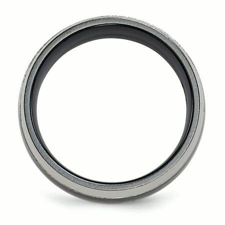 Edward Mirell Titanium Black Ti 8mm Band Size 10.5 - image 3 de 4