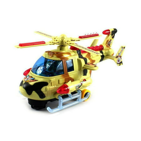 Vt Turbo Hero Gunship Battery Operated Bump And Go Toy Helicopter W  Awesome Flashing Lights  Sounds  Will Change Direction On Contact  Colors May Vary