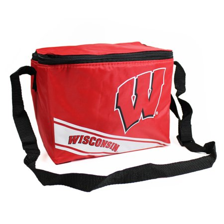 Wisconsin Badgers Official NCAA Cooler 6 Pack Ice Box Bag by Forever Collectibles (Wisconsin Badgers Tailgate Cooler)
