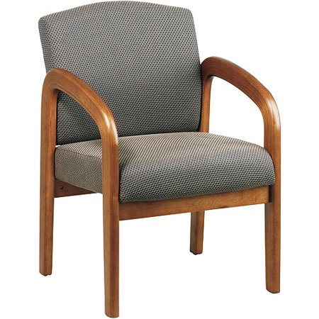 Office Star Products Wooden Reception Chair with Arms ...