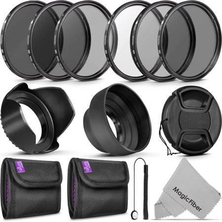 Professional 58MM UV CPL ND4 Lens Filters Kit and Altura Photo ND Neutral Density Filter Set. Photography Accessories Bundle for Canon and Nikon Lenses with a 58MM Filter