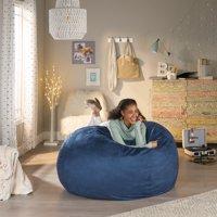 GDF Studio Kelsey Faux Suede 5 Foot Bean Bag Lounge Chair