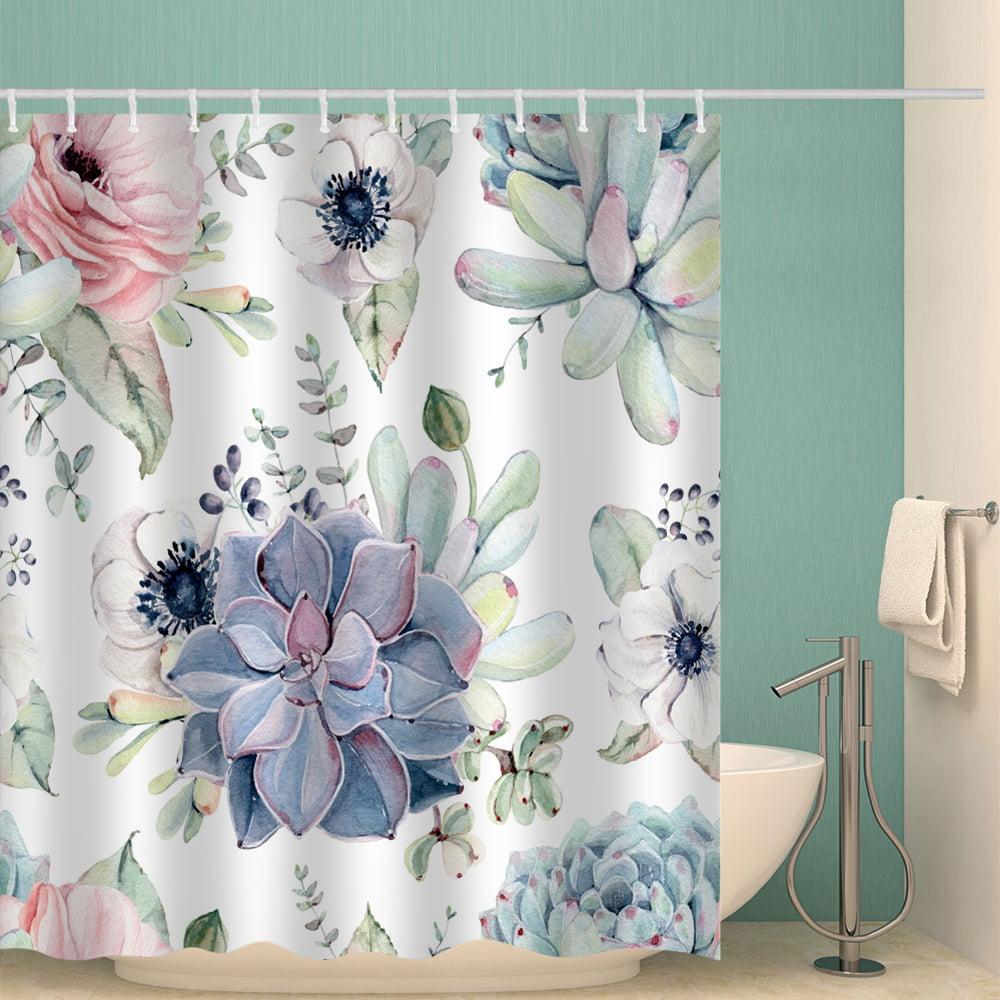 HUGSIDEA Cow Shower Curtain Bathroom Waterproof Classic