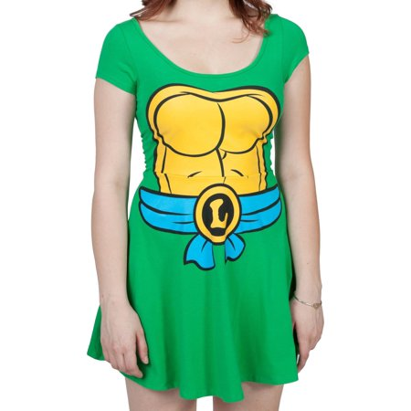 Teenage Mutant Ninja Turtles I Am Leonardo Women's Skater Dress - Teenage Mutant Ninja Turtles Fancy Dress Ladies