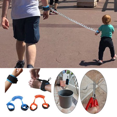 Baby Child Anti Lost Wrist Link, Child Safety Harness Toddler Walking Strap Rope Leash Walking Hand Belt Band Wristband for Children Kids Outdoor Safety(1.5m, Blue)