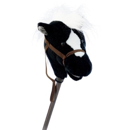 Easy Rideums 33 Inch Stick Horse  Black  Easy Ride Um Black Plush Stick Horse By Mary Meyer