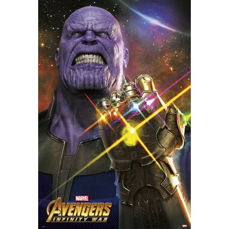 avengers infinity war movie poster print thanos the infinity