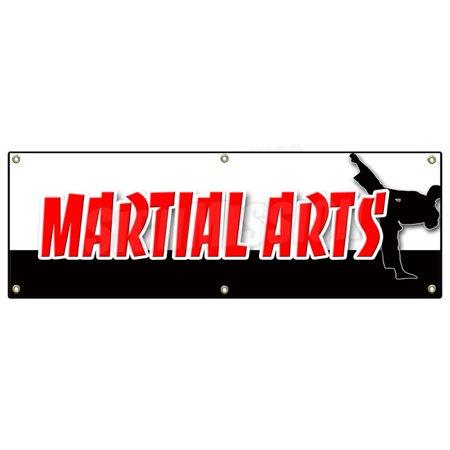 "48""x120"" MARTIAL ARTS BANNER SIGN jiu-jitsu kung fu tae kwon do judo classes"