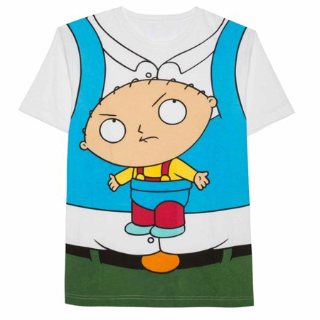 Family Guy Mens White Peter Griffin w/ Stewie Graphic Costume T-Shirt](Family Guy Peter Griffin)