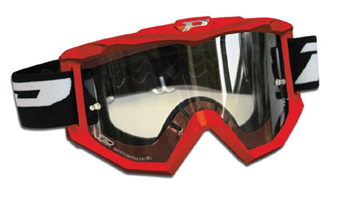 RACE LINE GOGGLES W ANTISCRATCH LENS RED by Progrip