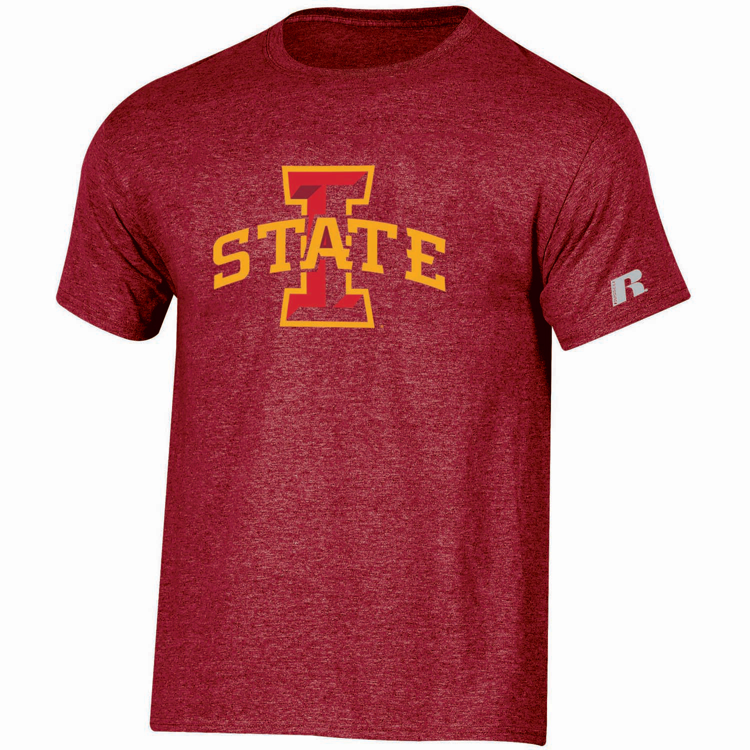 Youth Russell Cardinal Iowa State Cyclones Oversized Logo T-Shirt
