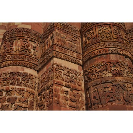 Canvas Print Stone Facade Building Temple Carvings India Stretched Canvas 10 x 14 ()