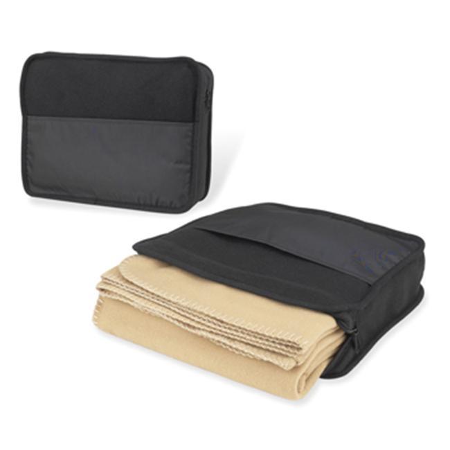 Picnic at Ascot 210-T Travel Blanket Set in Black/ Tan